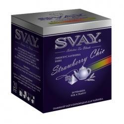 Чай Svay Клубничный шик, гибискус клубника-киви, в пирамидках 20х4 г